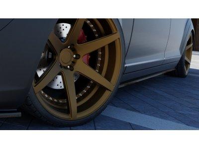 Накладки порогов MAXTON Design для Mercedes S класс W221