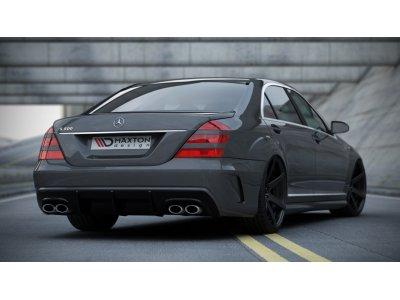 Бампер задний в стиле W205 от Maxton Design на Mercedes S класс W221