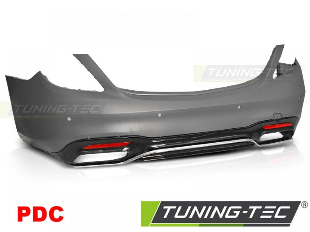 Бампер задний в стиле AMG S63 от Tuning-Tec на Mercedes S класс W222 рестайл