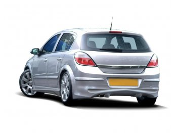 Накладка на задний бампер от Maxton Design на Opel Astra H 5D