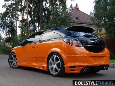 Накладка на задний бампер Rieger на Opel Astra H GTC