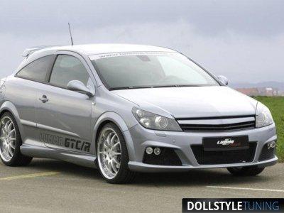 Бампер передний в стиле Lumma для Opel Astra H GTC