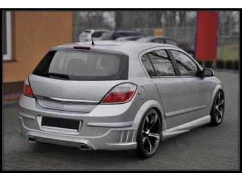 Накладка на задний бампер Intake от Maxton Design на Opel Astra H 5D