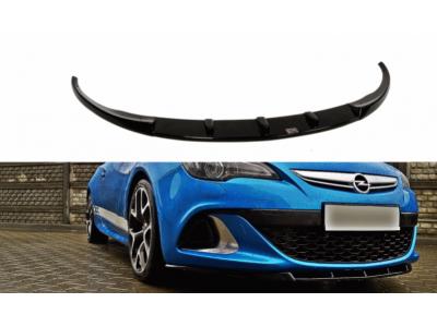 Накладка на передний бампер Var2 от Maxton Design на Opel Astra J OPC / VXR