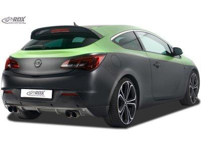 Накладка на задний бампер от RDX Racedesign на Opel Astra J GTC под 2 выхлопа