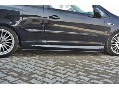 Накладки на пороги (нижние) от Maxton Design на Opel Corsa D OPC