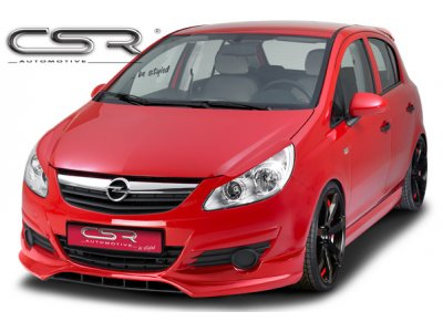 Накладка на передний бампер от CSR Automotive на Opel Corsa D