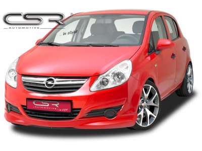 Накладка на передний бампер Var2 от CSR Automotive на Opel Corsa D