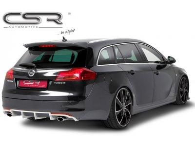 Накладка на задний бампер от CSR Automotive на Opel Insignia Sports Wagon под 2 трубы