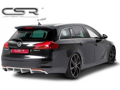 Накладка на задний бампер от CSR Automotive на Opel Insignia Sports Wagon под 1 трубу