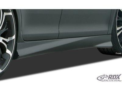 Накладки на пороги Turbo от RDX Racedesign на Peugeot 206