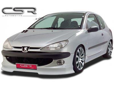 Накладка на передний бампер от CSR Automotive на Peugeot 206 Hatchback / Wagon / Cabrio рестайл
