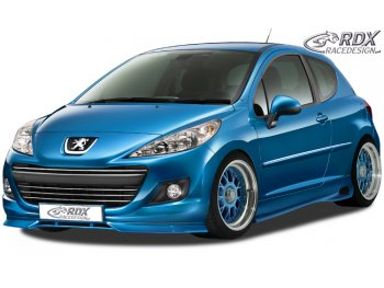 Накладка на передний бампер от RDX Racedesign на Peugeot 207 рестайл