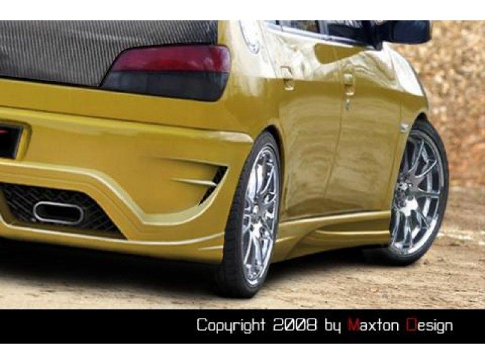 Накладки на пороги Inferno от Maxton Design на Peugeot 306