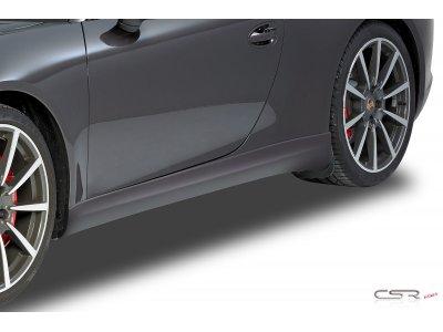 Накладки на пороги Var2 от CSR Automotive на Porsche 911 / 991 Carrera / Carrera S