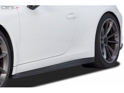 Накладки на пороги от CSR Automotive на Porsche 911 / 991