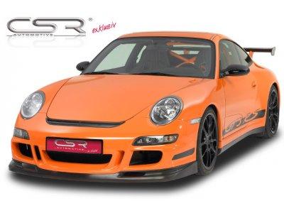 Накладка на передний бампер от CSR Automotive Var2 на Porsche 911 / 997 Coupe / Cabrio