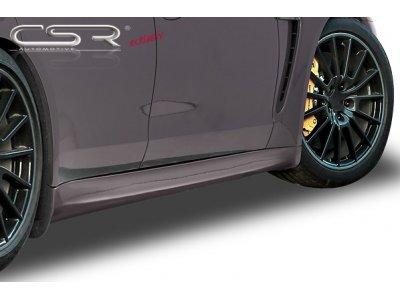 Накладки на пороги от CSR Automotive на Porsche Panamera