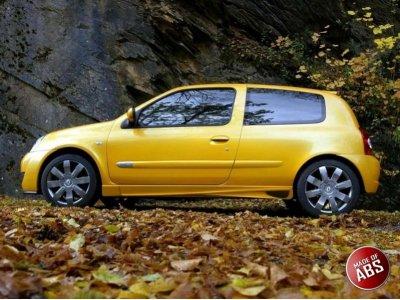 Накладки на пороги AF от Maxton Design на Renault Clio II