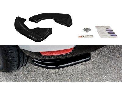Накладки сплиттеры боковые на задний бампер от Maxton Design на Renault Clio IV