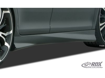 Накладки на пороги Turbo от RDX Racedesign на Skoda Fabia II