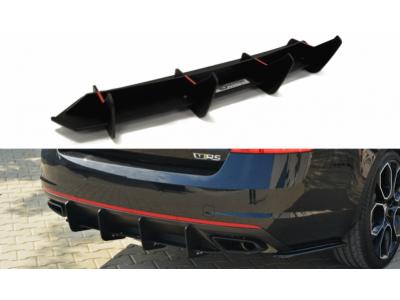 Накладка на задний бампер центральная от Maxton Design на Skoda Octavia III RS