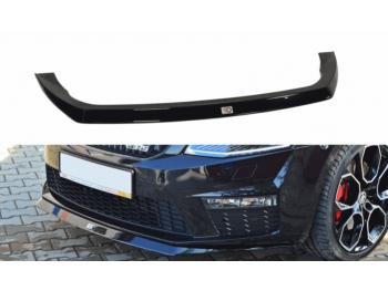 Накладка на передний бампер от Maxton Design на Skoda Octavia III RS