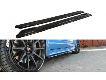 Накладки сплиттеры на пороги от Maxton Design для Subaru Impreza III WRX STI