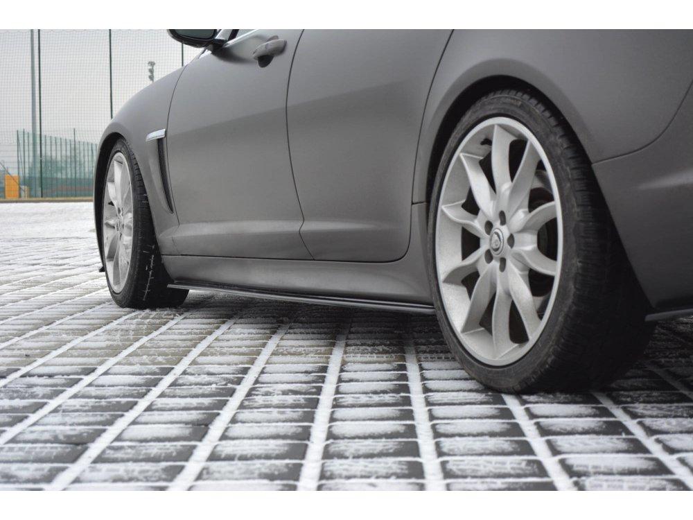 Сплиттеры порогов Maxton Design для Jaguar XF I Sportback S-Pack