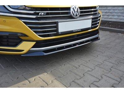 Накладка на передний бампер Var2 от Maxton Design для Volkswagen Arteon