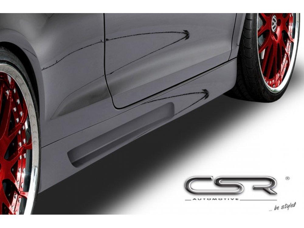 Накладки на пороги от CSR Automotive на VW Golf Plus