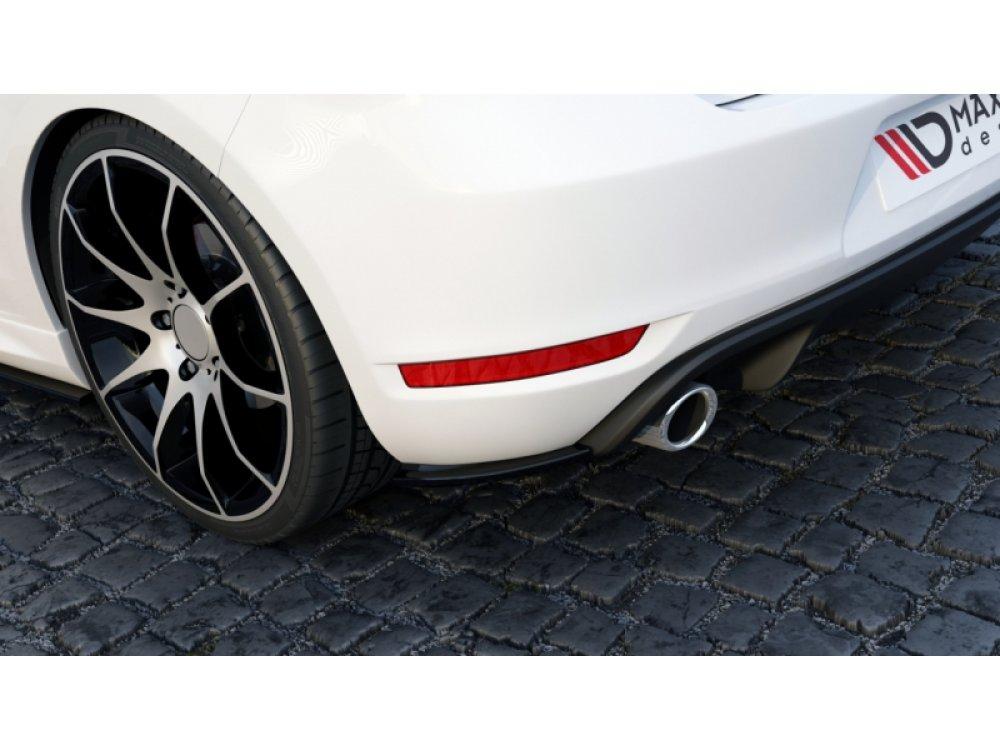 Боковые накладки на задний бампер от Maxton Design на VW Golf VI GTI 35TH