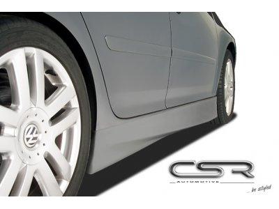 Накладки на пороги от CSR Automotive Var2 на VW Jetta V
