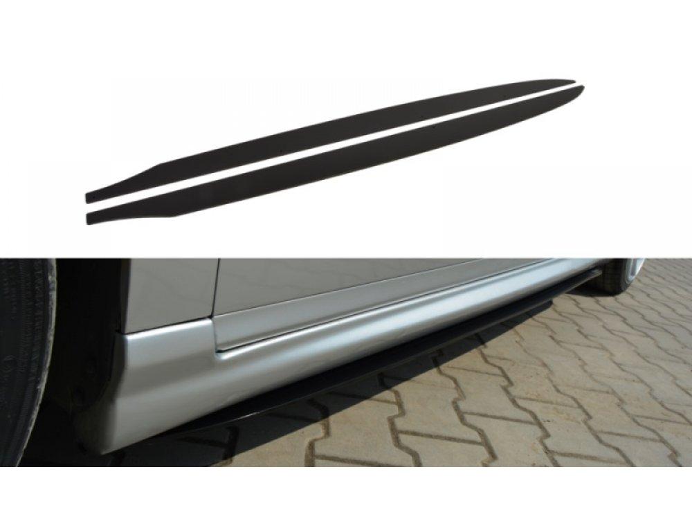 Накладки сплиттеры на пороги от Maxton Design на VW Passat B6 Votex