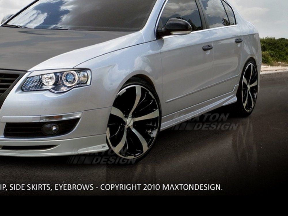 Накладки на пороги Revolt от Maxton Design на VW Passat B6 3C