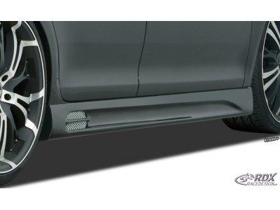 Накладки на пороги GT-Race от RDX на Volkswagen Passat B7