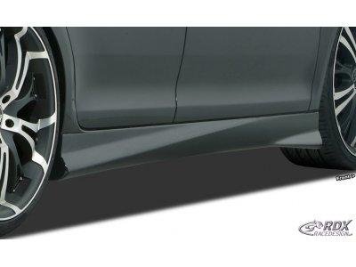 Накладки на пороги TurboR от RDX на Volkswagen Passat B7