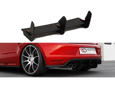 Накладка сплиттер заднего бампера от Maxton Design на VW Polo V GTI