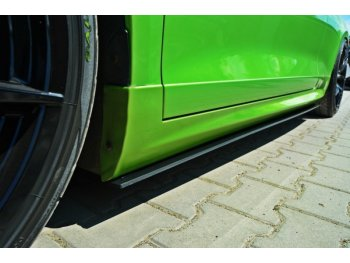 Накладки сплиттеры на пороги от Maxton Design на VW Scirocco III R