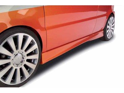 Накладки на пороги от Mattig Var2 на VW Sharan I рестайл