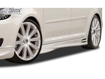 Накладки на пороги GT4 от RDX Racedesign на VW Touran I рестайл