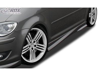 Накладки на пороги Turbo от RDX Racedesign на VW Touran I