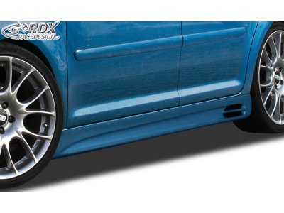 Накладки на пороги GT-Race от RDX Racedesign на VW Touran I рестайл