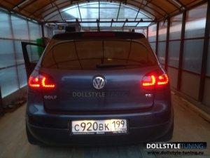 Фонари на VW Golf V (г. Москва)