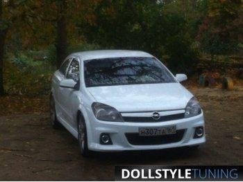 Бампер передний реплика OPC для Opel Astra H GTC (стеклопластик)