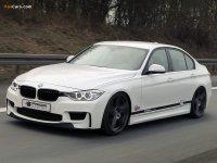На BMW 3 F30 спортивная регулируемая подвеска, пружины с занижением