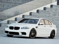 На BMW 5 F10 пружины с занижением, спортивная регулируемая подвеска