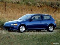 На Honda Civic V пружины с занижением, спортивная регулируемая подвеска