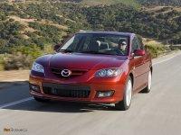 Тюнинг обвес на Mazda 3 BK : накладка на передний и задний бампер, пороги, спойлер.