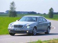 На Mercedes CLK класс W208 решётка радиатора